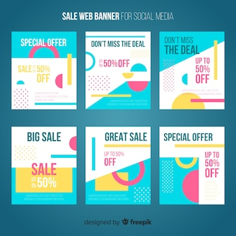 Verkauf web-banner für social media