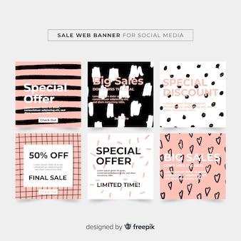 Verkauf web-banner-sammlung