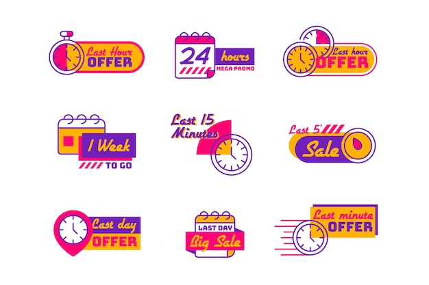 Verkaufs-countdown-banner-pack