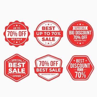 Verkaufs-rabatt beschriftet rote fahnen-umbau-sammlung