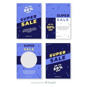 Verkaufs-social media-fahne mit fotopaket