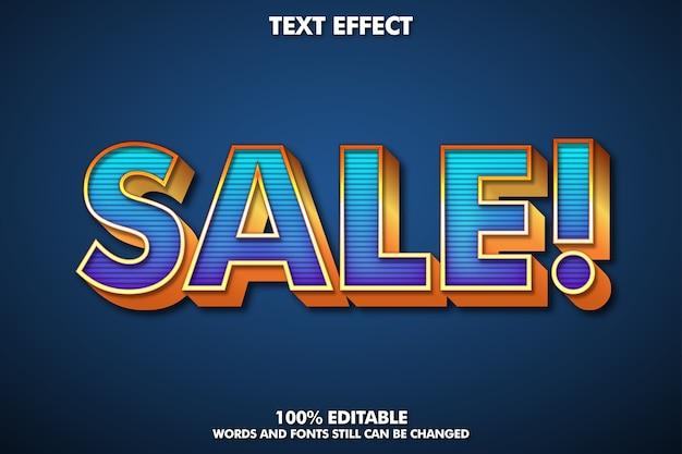 Verkaufsaufkleber, bearbeitbarer texteffekt