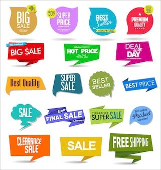 Verkaufsaufkleber und -umbauten