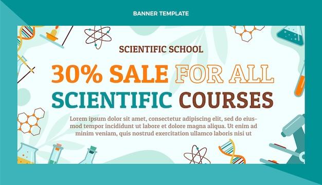 Verkaufsbanner für wissenschaftliche ausstellungen