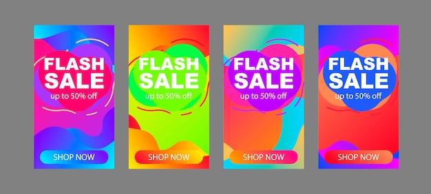 Verkaufsbanner-vorlagen. minimalistischer abstrakter vektor deckt design ab. zukünftige geometrische vorlage für plakate, banner, flyer, präsentationen und berichte