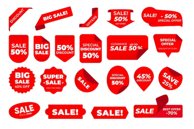 Verkaufsetiketten-pack