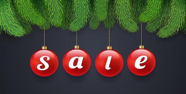 Verkaufsfahnen-designschablone der frohen weihnachten und des guten rutsch ins neue jahr
