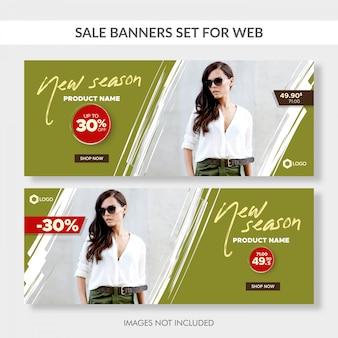 Verkaufsfahnen eingestellt für web
