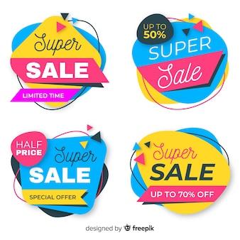 Verkaufsfahnen mit abstrakten formen