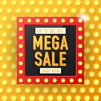 Verkaufsfahnen-schablonendesign, sonderangebot des großen verkaufs. verkauf banner template design, mega sale sonderangebot