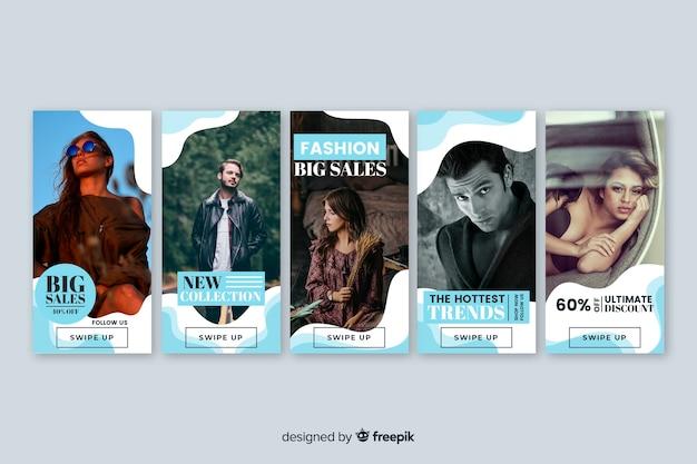 Verkaufsfahnensammlung mit foto