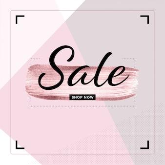 Verkaufsfahnenschablone für instagram-pfosten