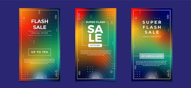Verkaufsfahnenschablone mit abstrakten formen