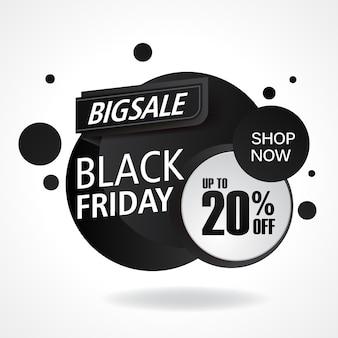 Verkaufsfahnenschablonen-designhintergrund. black friday-verkauf
