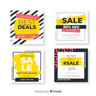 Verkaufsförderung banner für social media