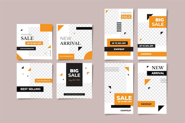 Verkaufsgeschichten und posts-pack-vorlagen