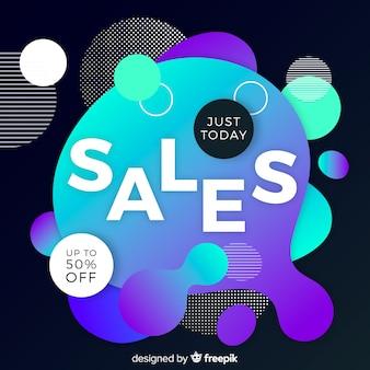 Verkaufshintergrund mit flüssigem effekt