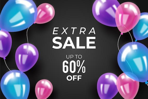 Verkaufshintergrund mit luftballons