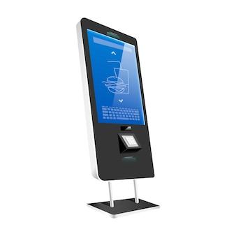 Verkaufskiosk mit realistischer darstellung der sensorplatte