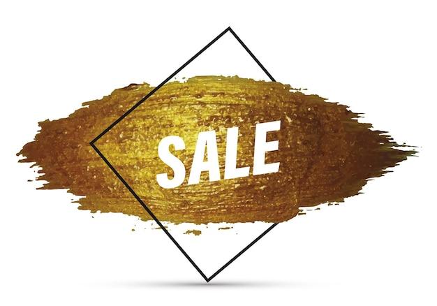 Verkaufslayouthintergrund für geschäftsförderung und werbevorlage für einkaufsrabattgutscheinbroschüre verkaufsbanner flyer poster promo-banner mit lila pinselstrich-effekt-vektor