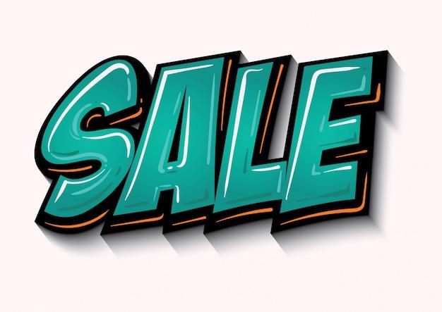 Verkaufsmarkenaufkleber mit steigungsdesign-artvektor