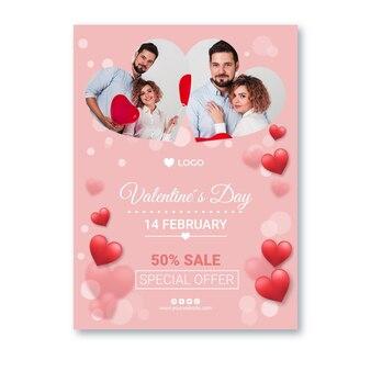Verkaufsplakat zum valentinstag a4