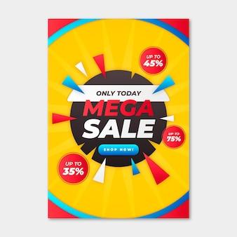 Verkaufsplakatvorlage mit farbverlauf