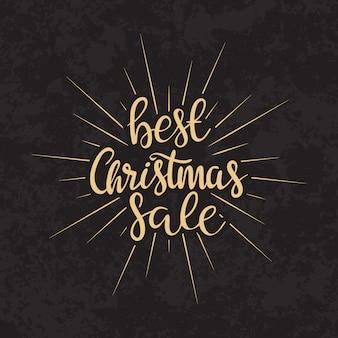 Verkaufstext der frohen weihnachten kalligraphische briefgestaltung kartenschablone.