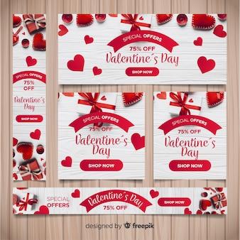 Verkaufswebebanner des valentinstags