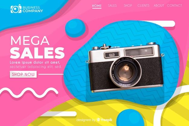 Verkaufszielseite mit foto