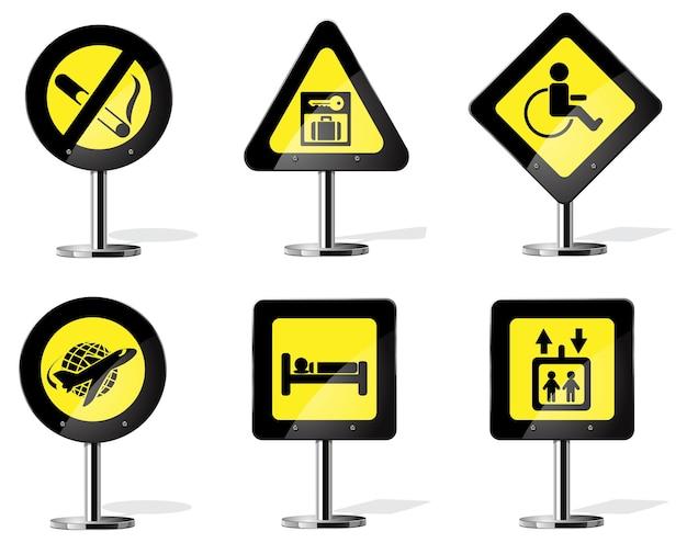 Verkehrsgelbes warnschild