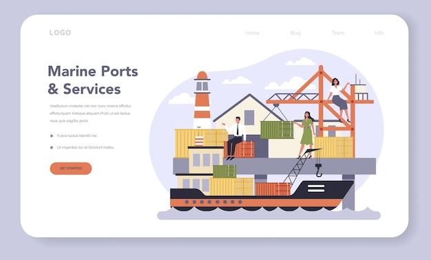 Verkehrsinfrastruktursektor der wirtschaft web-banner oder landing page