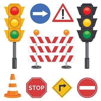 Verkehrskonzept mit lichtern und ausrüstungen