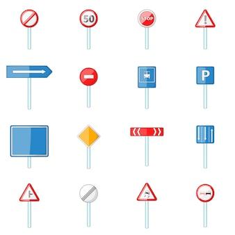 Verkehrsschilder icons set