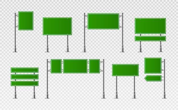 Verkehrsstraße realistische zeichen.