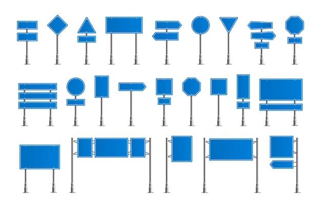Verkehrsstraße realistisches schilderdesign