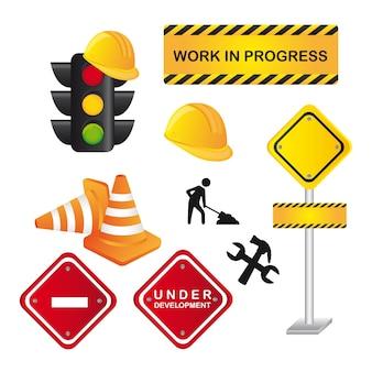 Verkehrszeichen lokalisiert über weißer hintergrundvektorillustration