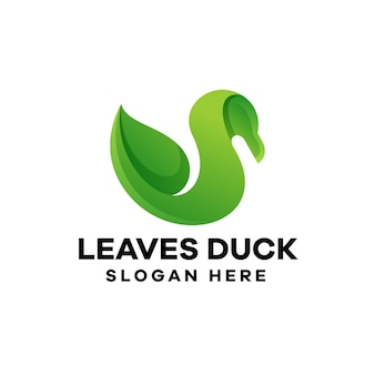 Verlässt ente farbverlauf logo-design