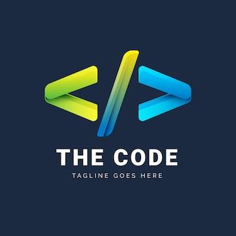 Verlaufscode-logo mit slogan