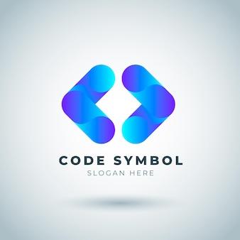 Verlaufscode-logo-vorlage