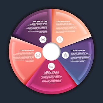 Verlaufsdiagramm infografik