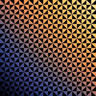 Verlaufsdreieckmuster. abstrakter geometrischer hintergrund. disco und elegante stilillustration
