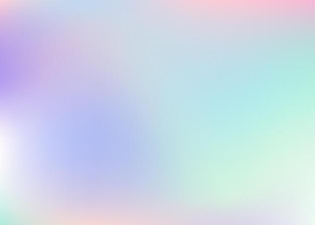 Verlaufsgitter abstrakten hintergrund. holographischer hintergrund des spektrums mit verlaufsgitter. 90er, 80er retro-stil. schillernde grafikvorlage für buch, jährliche, mobile schnittstelle, web-app.