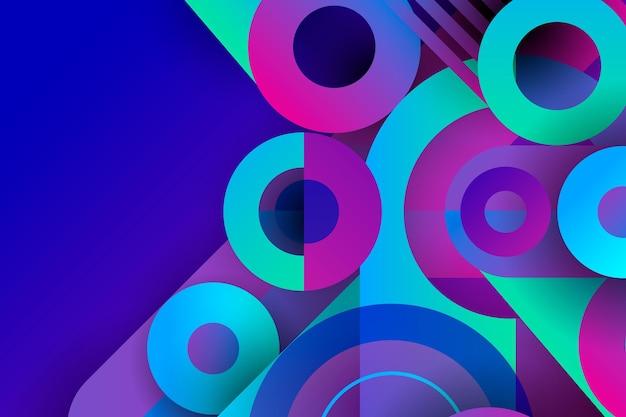Verlaufshintergrund mit geometrischen formen