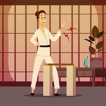 Verletzung auf karateka-zusammensetzung