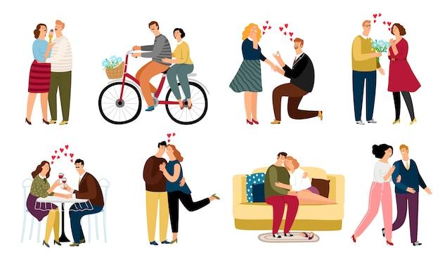 Verliebte menschen setzen