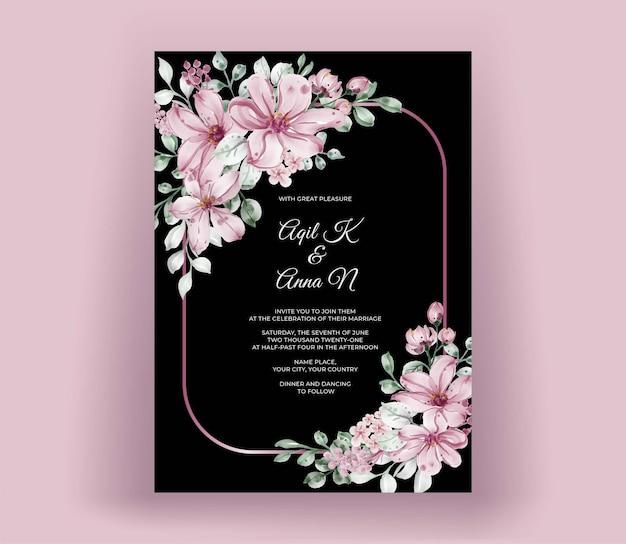 Verlobungseinladung mit aquarellblumen