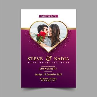 Verlobungseinladungsschablone mit bild
