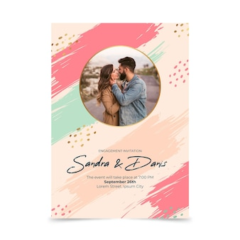 Verlobungseinladungsschablone mit foto