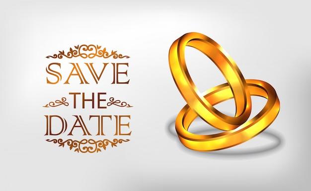 Verlobungszeremonie mit goldenem ring